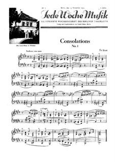 Утешения, S.172: No.1 ми мажор by Франц Лист
