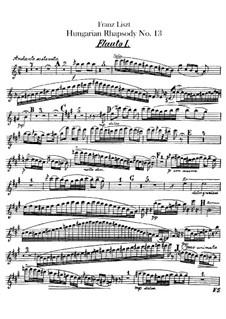 No.13 ля минор, S.244: Для оркестра – Партии флейт by Франц Лист