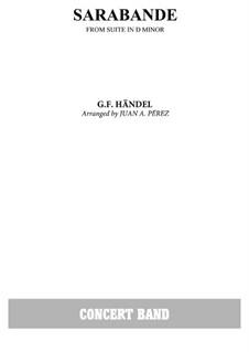 Сюита No.4 ре минор, HWV 437: Сарабанда by Георг Фридрих Гендель