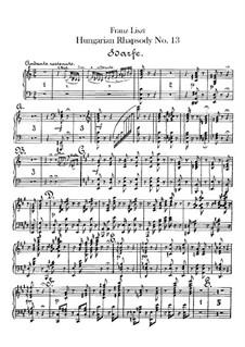 No.13 ля минор, S.244: Для оркестра – Партия арфы by Франц Лист