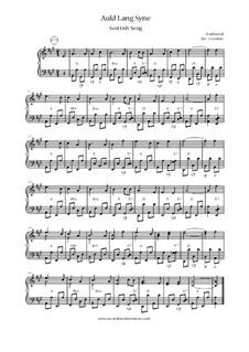 Auld Lang Syne: Для аккордеона by folklore