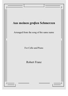 Двенадцать песен, Op.5: No.1 Aus meinen groβen Schmerzen, for Cello and Piano by Роберт Франц