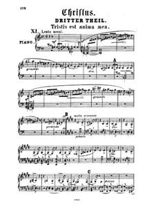 Христос, S.3: Акт III, для солистов, хора и фортепиано by Франц Лист
