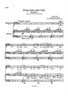 Kling leise mein Lied, S.301: Version II by Франц Лист