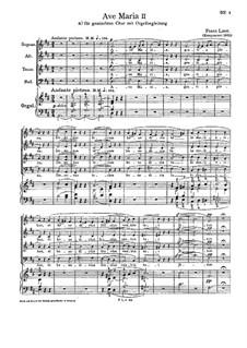 Ave Maria II, S.38: Партитура by Франц Лист