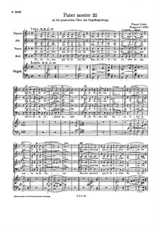 Pater noster III, S.41: Für gemischten Chor und Orgel by Франц Лист