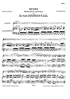 Рондо для скрипки и фортепиано, WoO 41: Партитура by Людвиг ван Бетховен