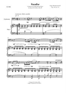Вокализ, Op.34 No.14: For Euphonium and Piano by Сергей Рахманинов
