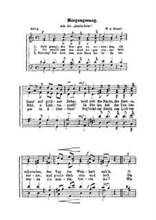 Утренняя песня: Утренняя песня by Вольфганг Амадей Моцарт