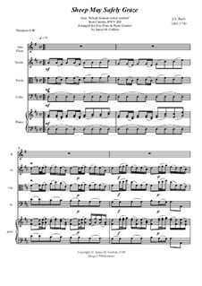 Sheep May Safely Graze: For Alto Flute & Piano Quartet by Иоганн Себастьян Бах