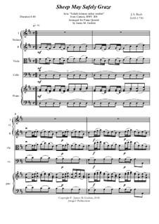 Sheep May Safely Graze: For Piano Quintet by Иоганн Себастьян Бах