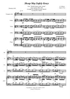 Sheep May Safely Graze: For Trumpet & Piano Quartet by Иоганн Себастьян Бах