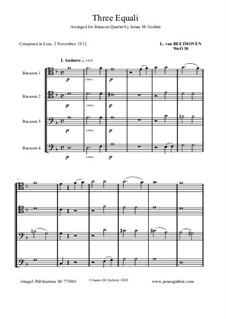 Three Equale, WoO 30: For Bassoon Quartet by Людвиг ван Бетховен