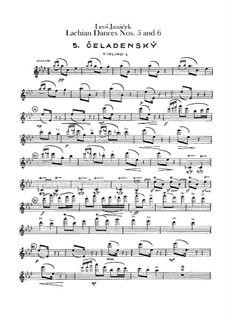 Лашские танцы, JW 6/17: Танцы No.5-6 – партия первых скрипок by Леош Яначек