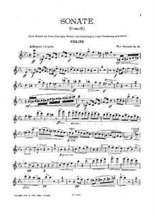 Соната для скрипки и фортепиано до минор, Op.23: Сольная партия by Max Jentsch