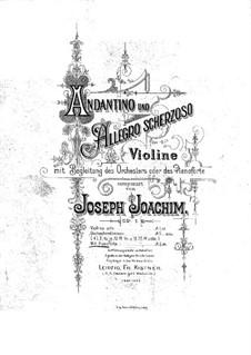 Андантино и Аллегро Скерцозо, Op.1: Партия скрипки by Йозеф Иоахим