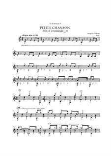 Petite Chanson Pour Dominique - A Little Song For Dominique: Petite Chanson Pour Dominique - A Little Song For Dominique by Vangelis Vlahakis