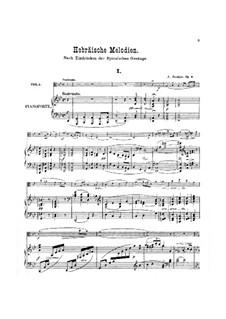 Еврейские мелодии, Op.9: Партитура для альта и фортепиано, сольная партия by Йозеф Иоахим