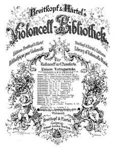 Еврейские мелодии, Op.9: No.2 Партия виолончели by Йозеф Иоахим