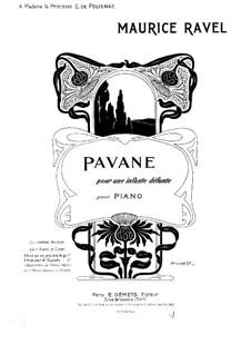 Павана на смерть инфанты, M.19: Для фортепиано by Морис Равель