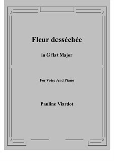 Fleur desséchée: G flat Major by Полина Виардо