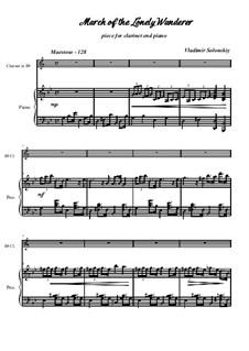 Марш одинокого странника: Для кларнета и фортепиано by Владимир Солонский