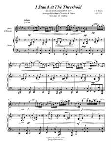 Ich steh mit einem Fuss im Grabe, BWV 156: No.1 I Stand At The Threshold for Oboe d'Amore & Piano by Иоганн Себастьян Бах