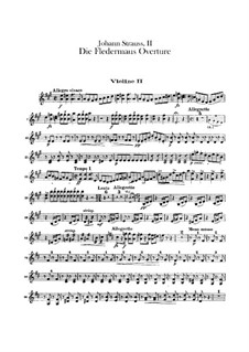 Летучая мышь: Увертюра – партия вторых скрипок by Иоганн Штраус (младший)