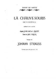 Летучая мышь: Клавир by Иоганн Штраус (младший)
