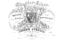 Жизнь артиста, Op.316: Клавир by Иоганн Штраус (младший)