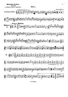 Жизнь артиста, Op.316: Партия гобоев by Иоганн Штраус (младший)
