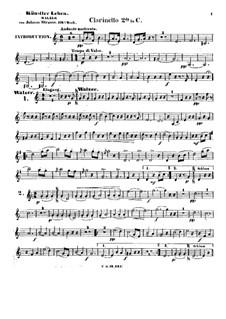 Жизнь артиста, Op.316: Партия второго кларнета by Иоганн Штраус (младший)
