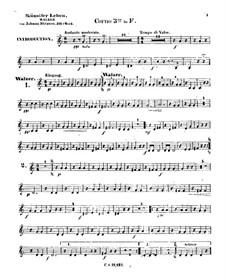 Жизнь артиста, Op.316: Партия третьей валторны by Иоганн Штраус (младший)