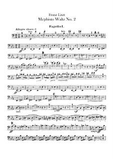 Вальс No.2 ми-бемоль мажор для оркестра, S.111: Партии I-II фаготов by Франц Лист