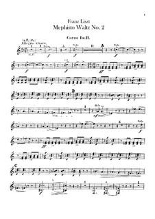 Вальс No.2 ми-бемоль мажор для оркестра, S.111: Партии валторн by Франц Лист