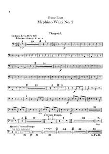 Вальс No.2 ми-бемоль мажор для оркестра, S.111: Партии ударных by Франц Лист