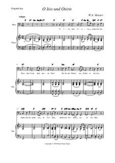 O, Исида и Осирис: Original key by Вольфганг Амадей Моцарт