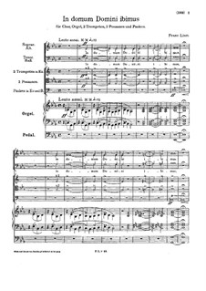 In domum Domini ibimus, S.57: In domum Domini ibimus by Франц Лист