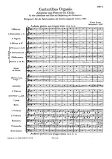 Cantantibus organis, S.7: Cantantibus organis by Франц Лист