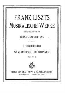 Симфоническая поэма No.5 'Прометей' для оркестра, S.99: Партитура by Франц Лист