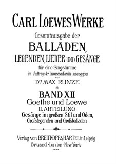 Полное собрание баллад, легенд и песен: Том XII by Карл Лёве