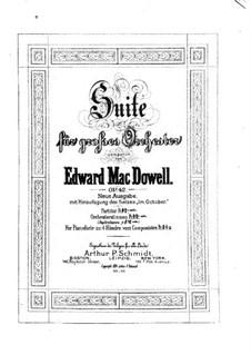 Сюита для оркестра No.1, Op.42: Партитура by Эдвард Макдоуэлл