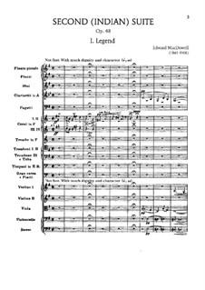 Сюита для оркестра No.2 'Indian', Op.48: Часть I 'Легенда' by Эдвард Макдоуэлл