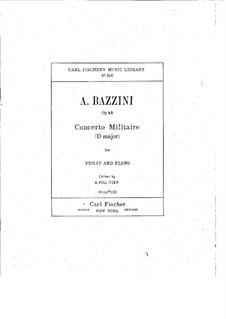 Концерт ре мажор 'Militaire', Op.42: Партия скрипки by Антонио Бадзини