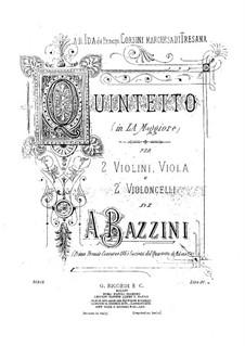 Струнный квинтет ля мажор: Партия I виолончели by Антонио Бадзини
