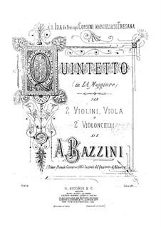 Струнный квинтет ля мажор: Партия II виолончели by Антонио Бадзини