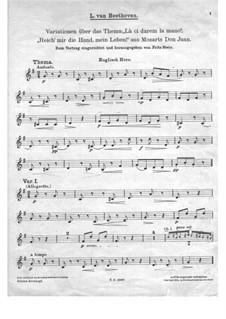 Вариации на тему 'Ручку, Церлина, дай мне' из оперы 'Дон Жуан' Моцарта, WoO 28: Партия английского рожка by Людвиг ван Бетховен