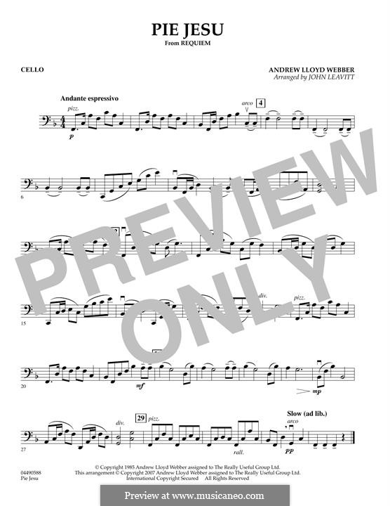 Pie Jesu (from Requiem): For string orchestra – Cello part by Andrew Lloyd Webber