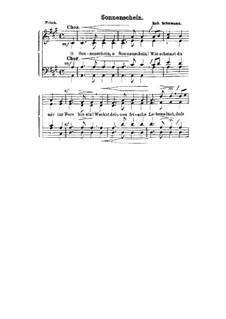 Шесть стихотворений, Op.36: No.4 К солнечному лучу, для голосов by Роберт Шуман