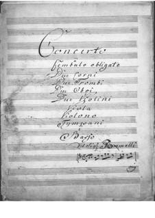 Концерт для клавесина с оркестром ре мажор: Партия клавесина by Никколо Йоммелли